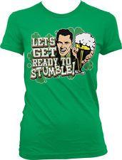 Lets Get Read To Stumble St Patricks Day Pub Crawl Beer Whiskey Juniors Tshirt