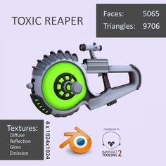Toxic Reaper 3D Model .max .c4d .obj .3ds .fbx .lwo .stl @3DExport.com by DavidDvorak @3