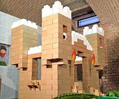 Giant Cardboard Building Blocks Cardboard Building Blocks, Giant Building Blocks, Brick Building, Building Toys, Laser Cutter Ideas, Winter Wonderland Theme, Kids Blocks, Build A Fort, Brick Block