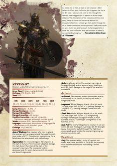 Undead knight revenant