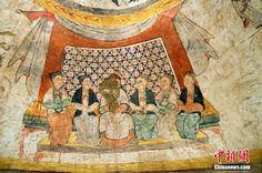 MONGOLS CHINA AND THE SILK ROAD : Rare mural paintings found in Yuan Dynasty tomb