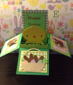 Easter pop up card  on Etsy, $2.50