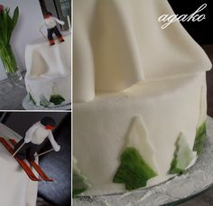 zaśnieżony tort
