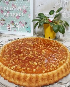 Food and drink birthday Easy Cake Recipes, Sweets Recipes, Great Recipes, Cooking Recipes, Pasta Cake, Caramel Tart, Apple Desserts, Turkish Recipes, Food Cakes