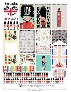 Free London Planner Stickers   Victoria Thatcher