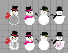 snowman cut files, snowman svgs, snowmen svg, snowman monogram designs, silhouette cameo, free silhouette studio designs