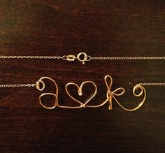 Personalized Mrs Bridal Necklace: 14k Gold, 14k Rose Gold, or Sterling Silver. $30.00, via Etsy.