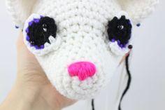 Anime Fox Amigurumi - Free Crochet Pattern - StringyDingDing Crochet Dinosaur Pattern Free, Free Crochet, Free Pattern, Crochet Patterns, Crochet Hats, Free Anime, Fox, How To Make, Amigurumi
