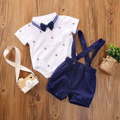 For Sale - PatPat 2020 New Summer Baby Boy Years Gentlemanly Anchor Print Top and Suspender Shorts Set Baby Boy Dress, Cute Baby Boy Outfits, Matching Family Outfits, Baby Outfits Newborn, Kids Outfits, Baby Clothes Online, Baby Kids Clothes, Baby Boy Fashion, Kids Fashion