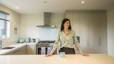 """Survivor NZ's Renee Clarke loves the creature comforts of her Pukekohe home, where she describes her style as """"glam, modern and refreshing""""."""