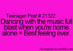 Psh! I do this with people home!