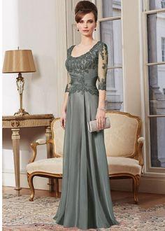 Kvinna Klänningar En linje Sleeve Lång Mor Klänningar Golv Längd Mother Of The Hot Bride Klänningar Party Gown
