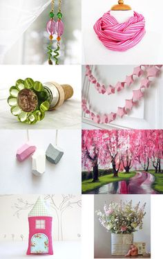 pink and green by ms blue on Etsy --Pinned with TreasuryPin.com