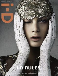 i-D Magazine Spring 2012 Nine Covers (March 2012): Carolyn Murphy by Daniele Duella and Iango Henzi; styled by Patti Wilson, makeup by Stephane Marais, hair by Luigi Murenu, set by Nick des Jardins.