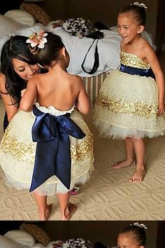 Nautical Flower Girl Dress/Ring Bearer Suit to go with Navy/Gold theme? : wedding 12 1 6 1 flower girl dress gold nautical wedding navy blue ring bearer sparkle white GlamnavygoldFGs SO CUTE Perfect Wedding, Dream Wedding, Wedding Day, Wedding Flowers, Trendy Wedding, Wedding Gold, Elegant Wedding, Wedding Reception, Wedding Sparklers