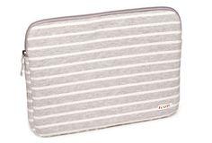 Striped Fleece Laptop Case, 13″ Gray on OneKingsLane.com