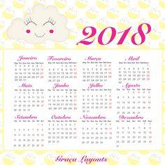 Calendário 2018 para baixar