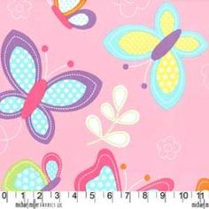 Michael Miller House Designer - Butterfly Kisses - Butterfly Kisses in Pink addy!