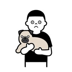 by Seiji Matsumoto Drawing Skills, Line Drawing, Character Illustration, Graphic Illustration, Minimal Drawings, Game Wallpaper Iphone, Dog Icon, Graphic Design Layouts, Badge Design