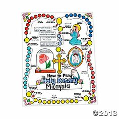 FREE Download Of Simplified Rosary Instruction Sheet For Young