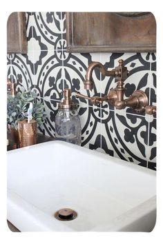 Master Bathroom Renovation- How to achieve a farmhouse style bathroom- farmhouse style- bathroom- remodeled bathroom- farmhouse bathroom- cement tile- copper accents- farmhouse style- bathroom update- bathroom reveal- bath (tape ware, tiles! Bad Inspiration, Bathroom Inspiration, Bathroom Ideas, Bathroom Designs, Budget Bathroom, Shower Ideas, Bathroom Updates, Bath Ideas, Furniture Inspiration