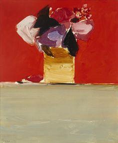 Donald Hamilton Fraser RA.  Flowers-orange & green.  Part of Bonhams : The Lauren Bacall Collection
