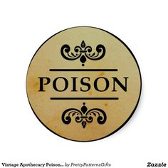 Vintage Apothecary Poison Halloween Stickers Label SOLD on Zazzle