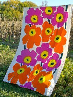 "Dated 1965 Vintage  Maija Isola Designed Marimekko ""Unikko"" Fabric by matangi.etsy, via Flickr"