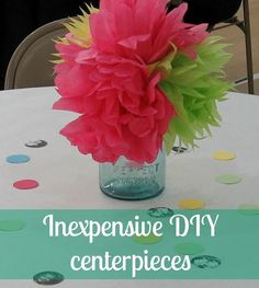I think these tissue paper flowers are super cute and super easy!