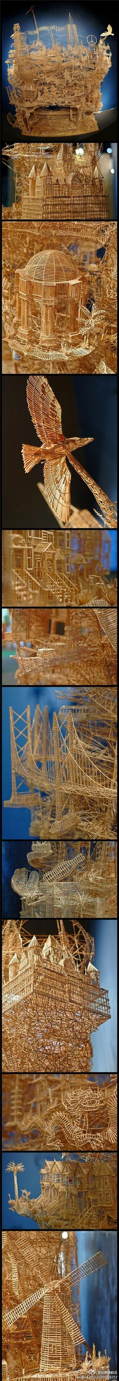 1 person, 35 years, 100,000 toothpicks
