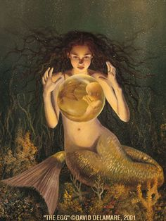 Fairy and fantasy art images, fairy pictures & drawings, flower and butterfly illustrations from Fairies World. Fairies World, Fairy & Fantasy Art Gallery - David Delamare/The Egg© Fantasy Mermaids, Real Mermaids, Mermaids And Mermen, Mermaids Exist, Mermaid Fairy, Baby Mermaid, The Little Mermaid, Mermaid Cove, Fantasy Creatures