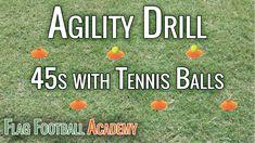 Flag Football Agility Drill - with Tennis Balls Football Drills For Kids, Flag Football Plays, Football Defense, School Football, Football Moms, Football Stuff, Football Players, Football Conditioning Drills, Football Training Drills