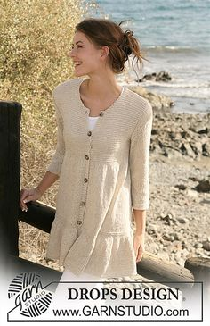 Ravelry: 118-1 Jacket with wide flounce border pattern by DROPS design -  free pattern