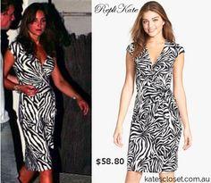 RepliKate of the Warehouse zebra wrap dress.