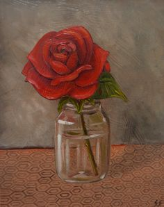 Rose Oil Painting Still Life Painting by SimplePleasureArt on Etsy