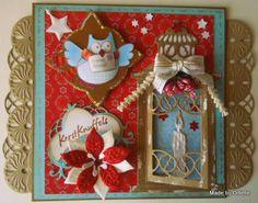 Odette's kaartenhoekje: Uiltjes kerstgroet....