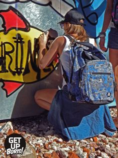 Inline Skates Backpack/ Graffiti Ilegal-Navy www.getupboris.com