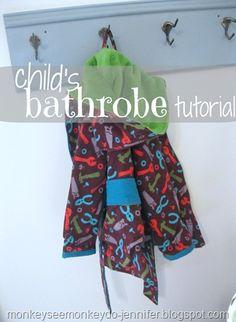 4f3ec52d67 bathrobe tutorial title Sewing Patterns For Kids