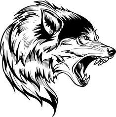 Tribal Animal Tattoos, Tribal Wolf Tattoo, Wolf Tattoo Sleeve, Tribal Animals, Wolf Tattoo Design, Chest Tattoo, Sleeve Tattoos, Tattoo Designs, Wolf Design