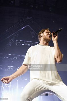 Singer Dan Reynolds of Imagine Dragons performs at the American Airlines Center on July 17, 2015 in Dallas, Texas.