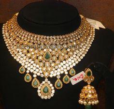 Jewellery Designs: Uncut Pachi Set by Malabargold