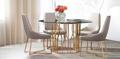 Mauris Rectangular Luxury Dining Table presented by Allamoda Furniture features a rose gold polished s. Luxury Dining Tables, Modern Dining Room Tables, Dining Table With Bench, Dining Table Design, Dining Room Wall Decor, Contemporary Dining Table, Modern Furniture, Presents, Bow