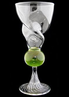 Swirl Reservoir Absinthe Glass Blown