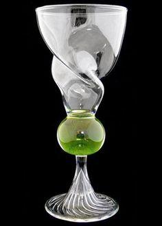 Swirl Reservoir Absinthe Glass Blown