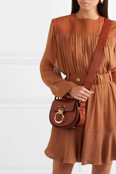 Chloé Tess Leather And Suede Shoulder Bag - Brown  Leather Tess Chlo d7bfce3e38759