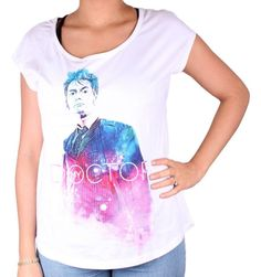 Tshirt Femme Doctor Who - My Doctor. Officiel Tshirt Femme Doctor Who - My Doctor Col rond Manches courtes Sérigraphie recto coton Tailles Européen. Doctor Who, Officiel, Madame, Boutique, Tie Dye, T Shirt, Collection, Tops, Fashion