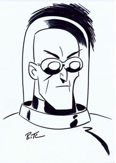 Mr. Freeze, in Anthony Brun's BRUCE TIMM !! Comic Art Gallery Room - 1110784