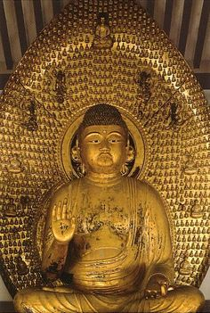 National treasure Amitabha Buddha of Joruriji temple 阿弥陀如来中尊像(浄瑠璃寺)Statues and Icons : More At FOSTERGINGER @ Pinterest