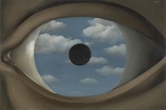 Magritte and his mysterious Surrealism at MoMA New York. Magritte: The Mystery of the Ordinary, September Max Ernst, Rene Magritte, Artist Magritte, Salvador Dali, Magritte Paintings, Dali Paintings, Surrealism Painting, Eye Painting, Art History