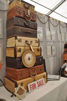 Vintage Suitcases, can you imagine finding this at a Flea market?